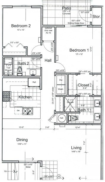 Floor plan Picture Sonrise Apartments Marysville WA